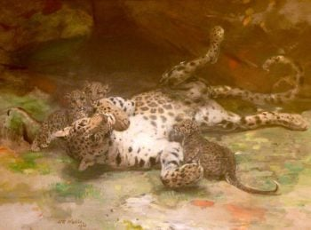 Cave Dwellers at Play | William Walls | oil painting