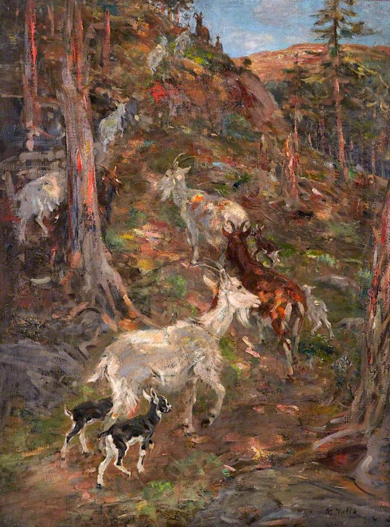 Mountain Goats | William Walls | oil painting