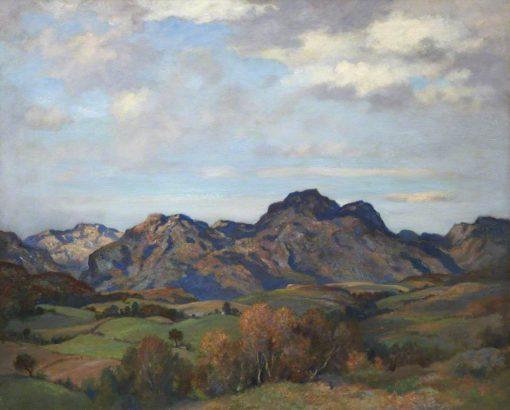 Loch Long Hills   James Whitelaw Hamilton   oil painting