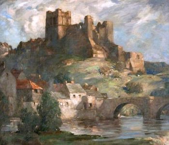 Richmond Castle | James Whitelaw Hamilton | oil painting