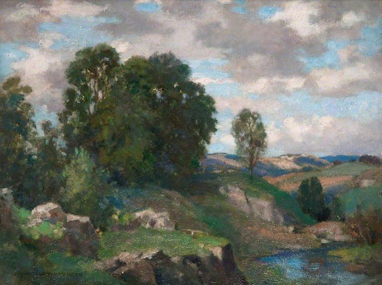 The River Lune near Orton | James Whitelaw Hamilton | oil painting