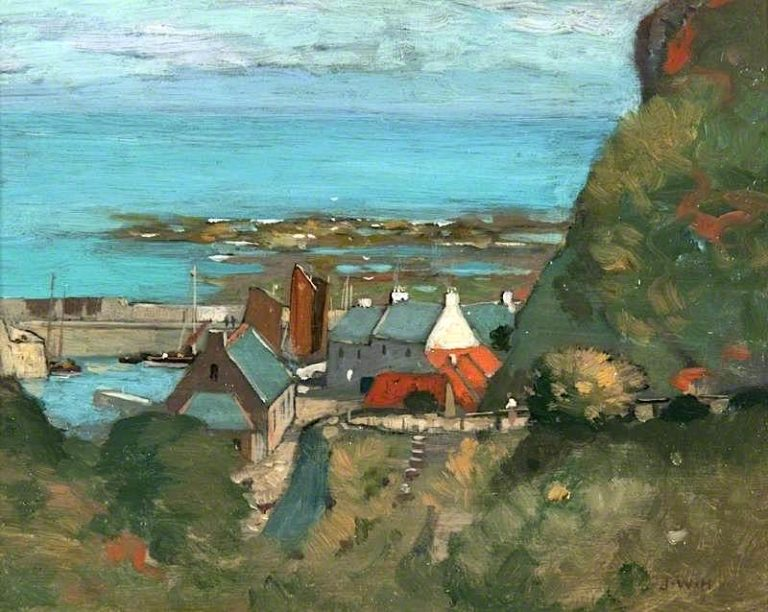 View of a Harbour | James Whitelaw Hamilton | oil painting