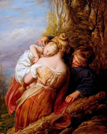 Brother and Sister | William Mulready | oil painting