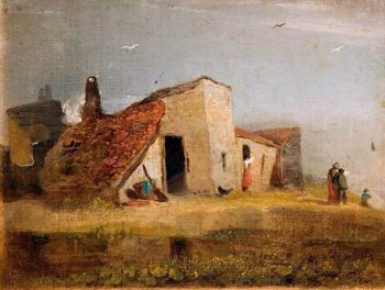 Cottages on the Coast | William Mulready | oil painting