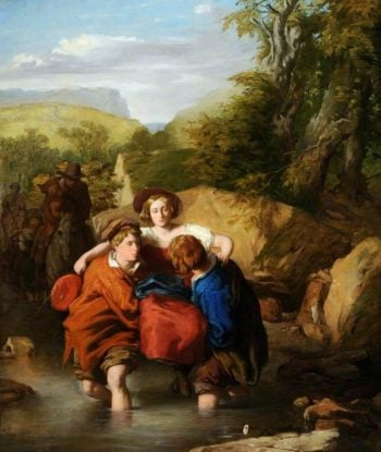 Crossing the Ford | William Mulready | oil painting