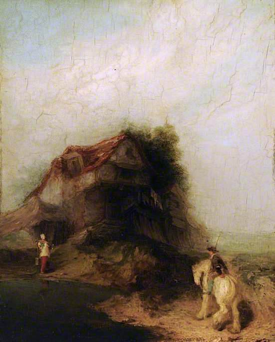 Farmhouse with a White Horse | William Mulready | oil painting