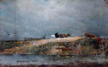 Hampstead Heath with Cows | William Mulready | oil painting