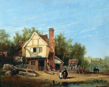 Landscape with Cottages | William Mulready | oil painting