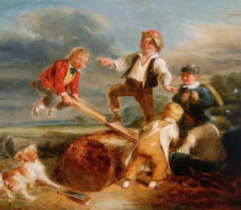 See - Saw | William Mulready | oil painting