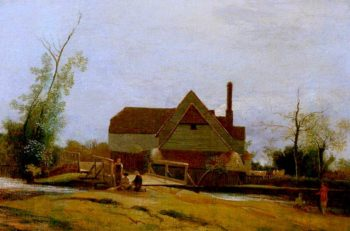 Suffolk Landscape with Mill | William Mulready | oil painting