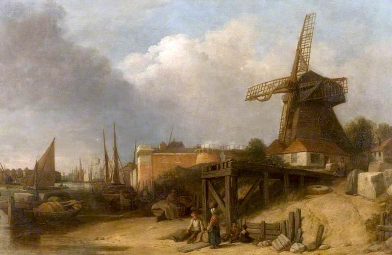 Town on a River | William Mulready | oil painting
