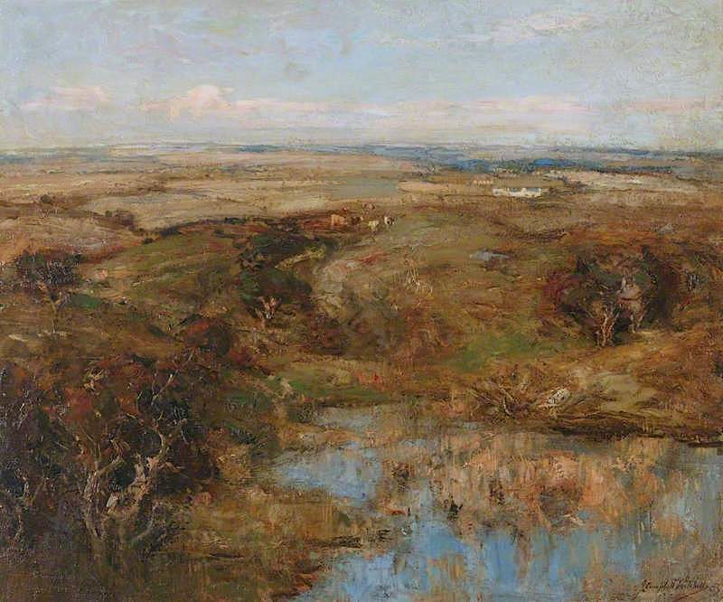 At the Close of Day   John Campbell Mitchell   oil painting