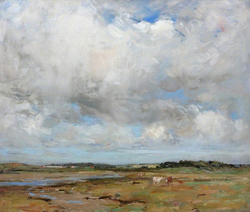 Cattle on the Solway   John Campbell Mitchell   oil painting