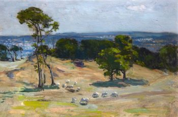 Edinburgh from Corstorphine Hill | John Campbell Mitchell | oil painting