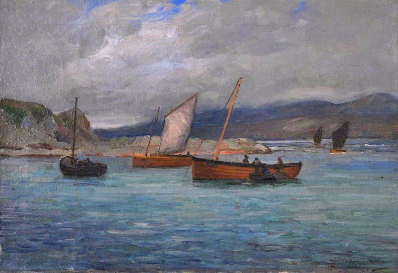 Fishing Boats at Port Righ