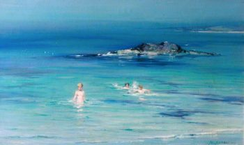 Summer at Machrichanish | John Campbell Mitchell | oil painting
