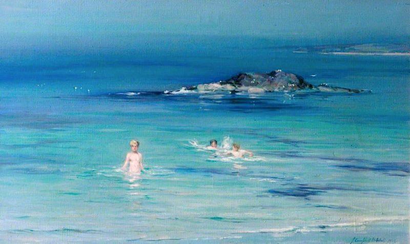 Summer at Machrichanish   John Campbell Mitchell   oil painting