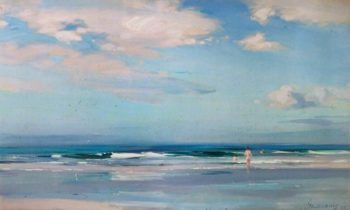 The Sands at Machrichanish | John Campbell Mitchell | oil painting
