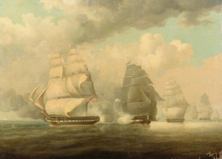 Escape-of-HMS-'Belvidera'-23-June-1812