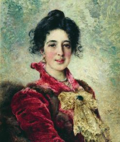 Portrait of a Lady | Konstantin Yegorovich Makovsky | Oil Painting