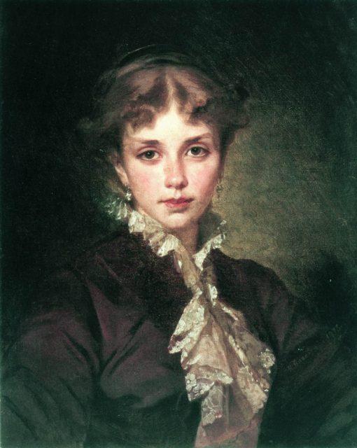 Portrait of a Lady   Konstantin Yegorovich Makovsky   Oil Painting