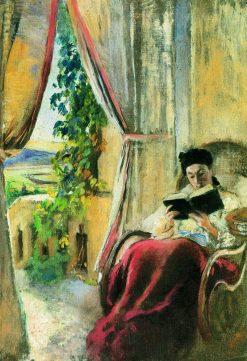 Reading Woman | Konstantin Yegorovich Makovsky | Oil Painting