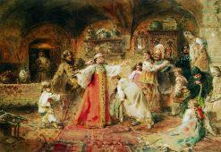 Dead Mans Bluff | Konstantin Yegorovich Makovsky | Oil Painting