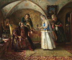 Scene of a Russian Boyar Life in the 17th Century | Konstantin Yegorovich Makovsky | Oil Painting