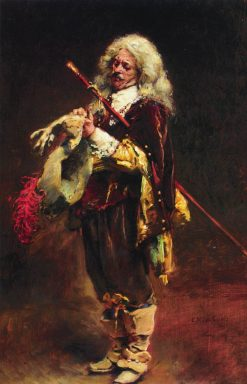 Cavalier Putting on a Glove | Konstantin Yegorovich Makovsky | Oil Painting