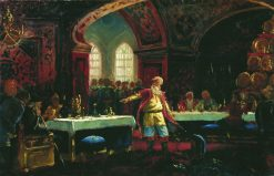 Prince Repin at the Feast of Ivan the Terrible | Konstantin Yegorovich Makovsky | Oil Painting