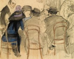 Cafe Scene | Leo Gestel | Oil Painting