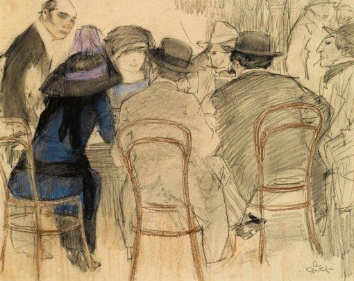 Cafe Scene   Leo Gestel   Oil Painting
