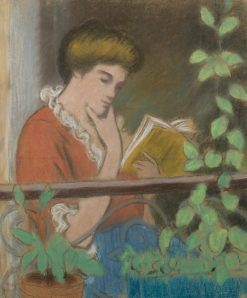 Woman on a Balcony | Federico Zandomeneghi | Oil Painting
