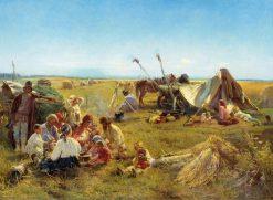 The Lunch of Peasants | Konstantin Yegorovich Makovsky | Oil Painting