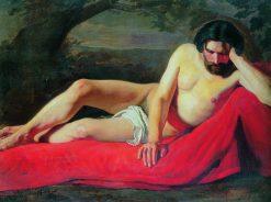 Recling Man | Konstantin Yegorovich Makovsky | Oil Painting