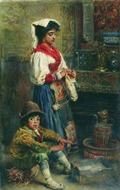 Models Waiting for the Artist | Konstantin Yegorovich Makovsky | Oil Painting