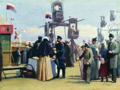 Fair in Moscow | Konstantin Yegorovich Makovsky | Oil Painting