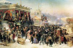 Festivities in St. Petersburg | Konstantin Yegorovich Makovsky | Oil Painting