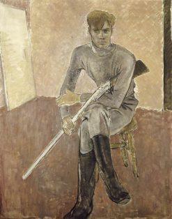 Man with a Gun | Glyn Warren Philpot | Oil Painting