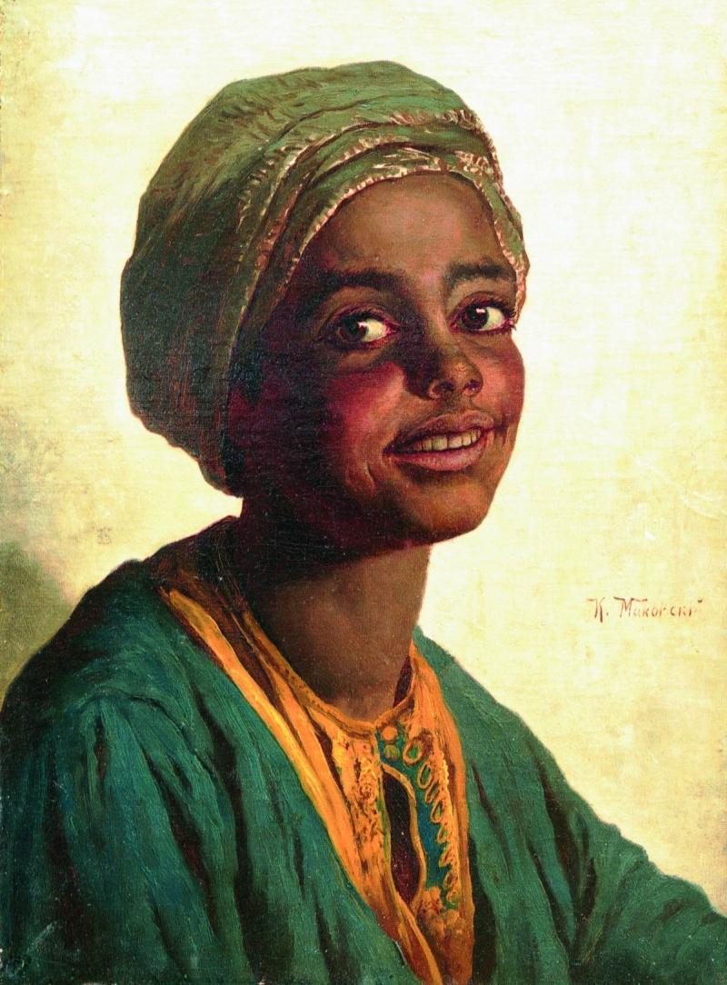 African Woman Painting Konstantin Yegorovich Makovsky Oil Paintings