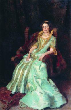 Portrait of V.A. Morozova | Konstantin Yegorovich Makovsky | Oil Painting