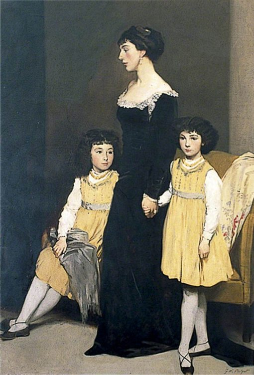 Mrs Basil Fothergill and Her Two Daughters | Glyn Warren Philpot | Oil Painting