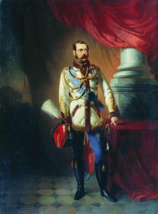 Portrait of Emperor Alexander II | Konstantin Yegorovich Makovsky | Oil Painting