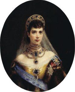 Portrait of Empress Maria Fedorovna | Konstantin Yegorovich Makovsky | Oil Painting