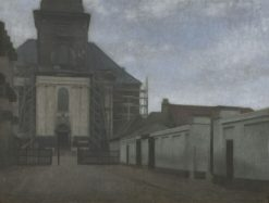 Strandgade with Christians Kirke in the Background | Vilhelm Hammershøi | Oil Painting
