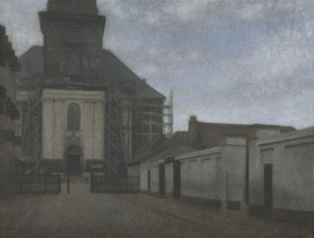 Strandgade with Christians Kirke in the Background | Vilhelm Hammershøi | Oil Painting