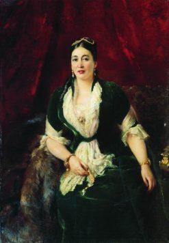 Portrait of E.S. Rastorgueva | Konstantin Yegorovich Makovsky | Oil Painting