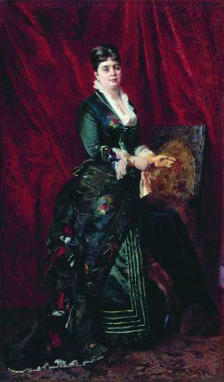 Lady in a Green Dress | Konstantin Yegorovich Makovsky | Oil Painting
