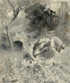 Garden Idyll   Carl Larsson   Oil Painting