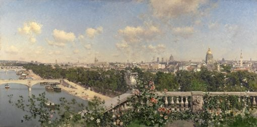 View of Paris from the Trocadero | Martin Rico y Ortega | Oil Painting